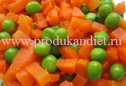 zeljonyj goroshek foto mnogo morkovi